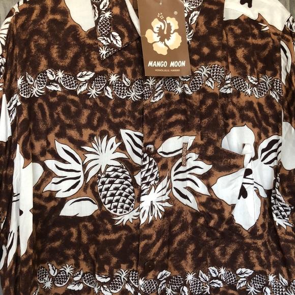 mango moon Other - Brand New Vintage Aloha Shirt Kiana Tom Actor Dad